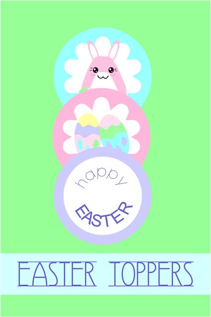 toppers fiestas infantiles conejos de colores