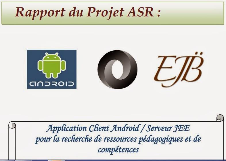 rapport  application client android    serveur jee pour la