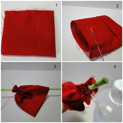 Tutorial de tulipán de tela