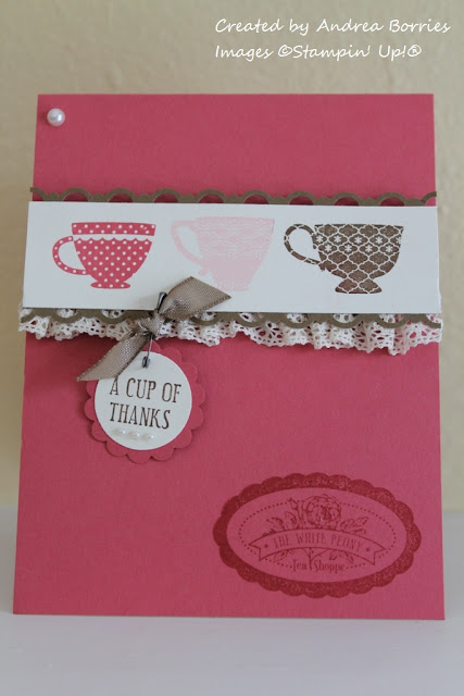 Card made with Tea Shoppe stamp set.