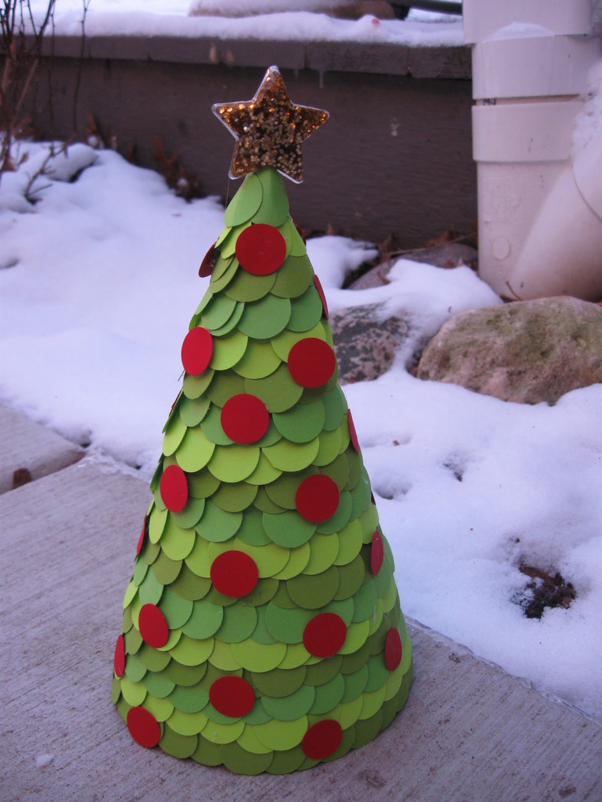Craft Klatch Paper Covered Cone Christmas Tree Craft Tutorial