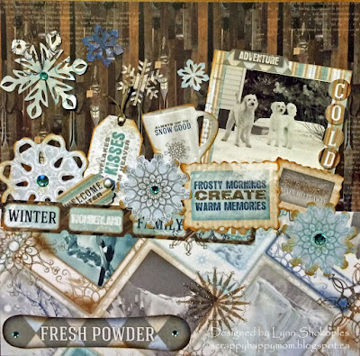Always Up To Snow Good layout by Lynn Shokoples for BoBunny featuring the WhiteOut Collection