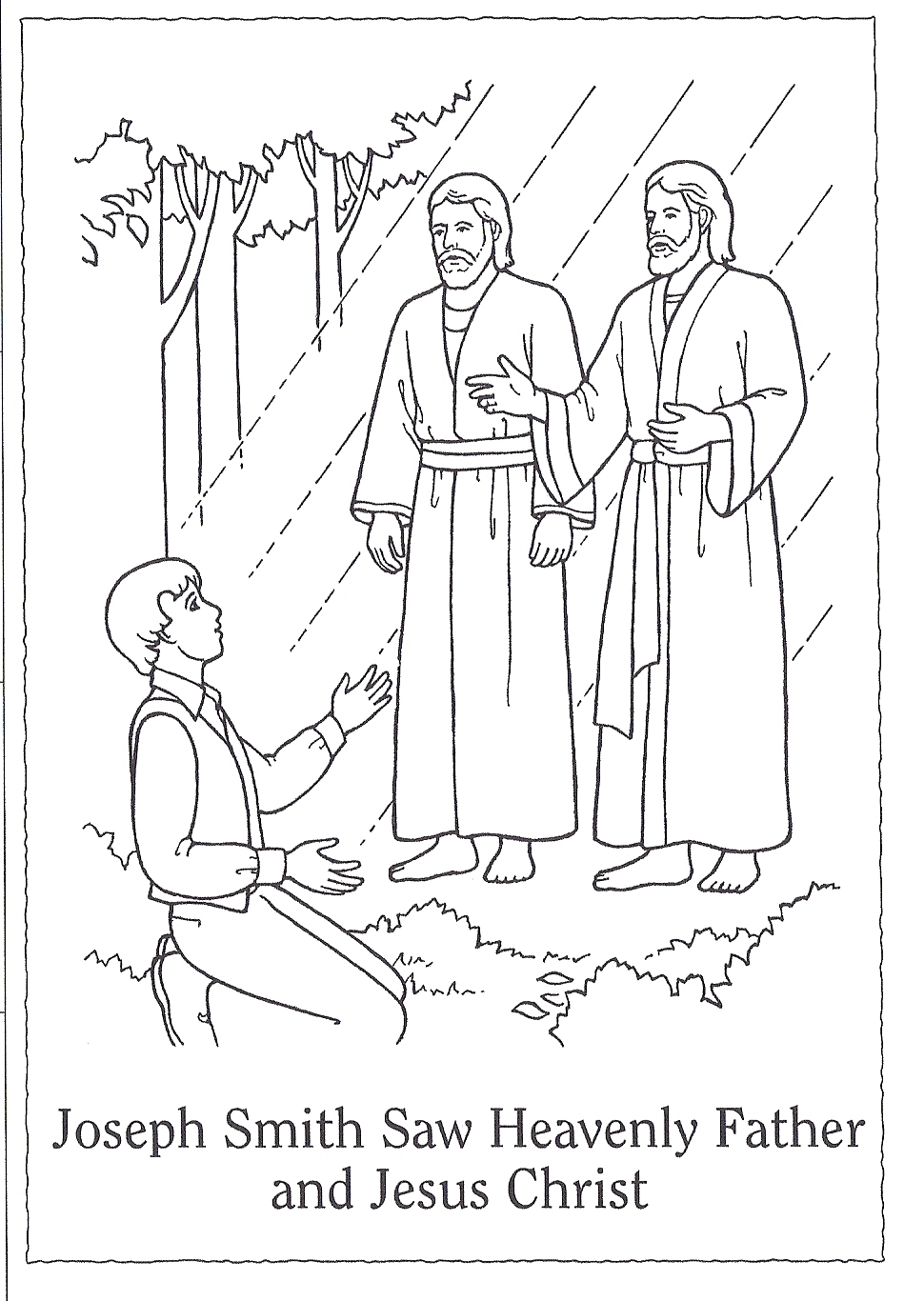 Joseph Smith First Vision Coloring Page - Free Coloring Pages