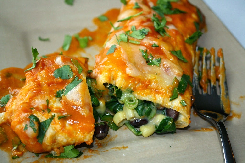 black bean spinach enchiladas pictured above veggie quinoa enchiladas ...