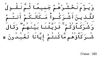 Surah Yunus ayat 28