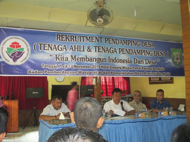 Proses Perekrutan Tenaga Ahli  &  Pendamping Desa Di Provinsi Bengkulu