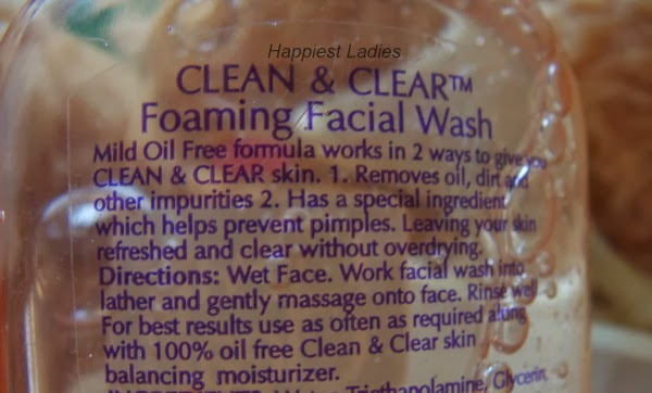 Clean and clear face wash + home facial