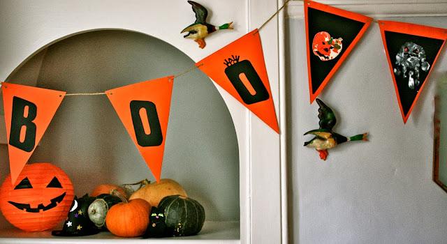 halloween bunting - boo