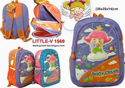 Tas Ransel Sekolah Anak Cewek Murah dan Bagus Little V - 1569 - 95rb
