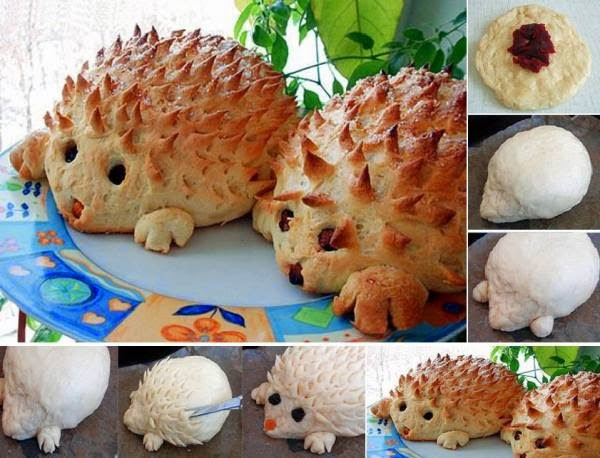 Make Cute Hedgehog Bread