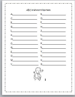 brainstorming sheets