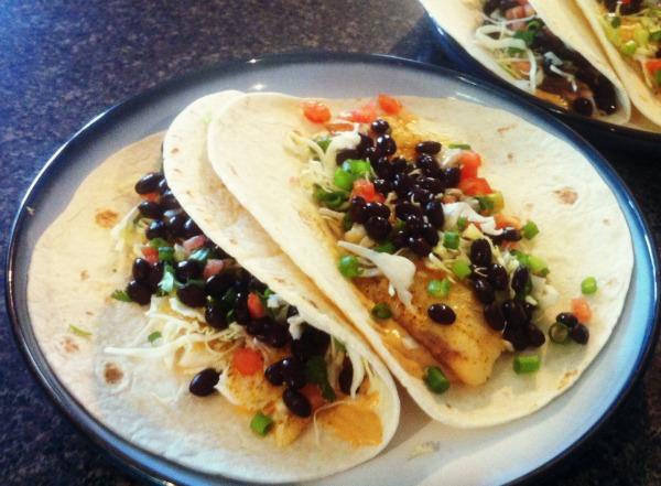 homemade baha fish tacos