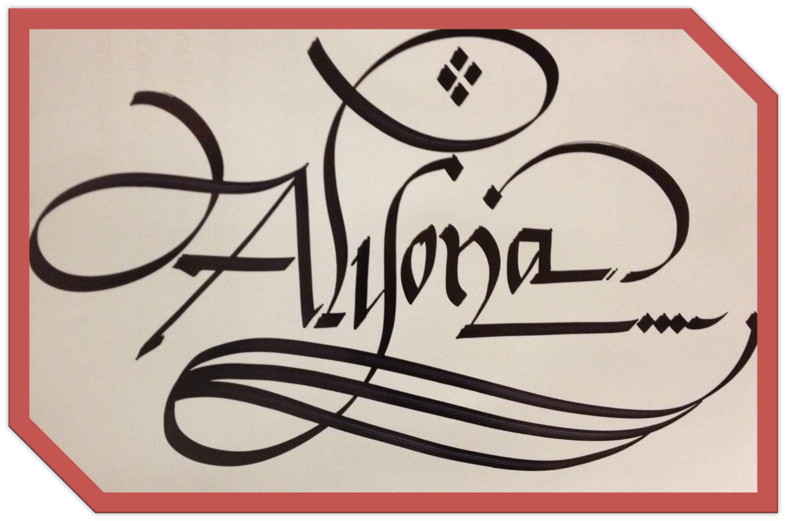 Calligraphy Art Russian Names In Calligraphy Alyona