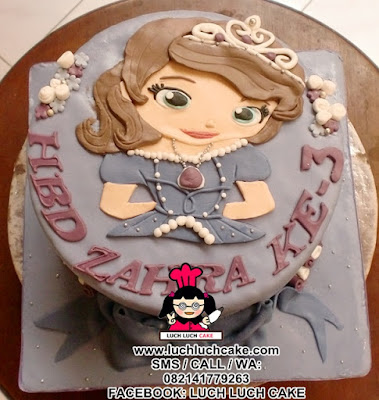 Kue Tart Sofia The First 2d Cake (REPEAT ORDER)