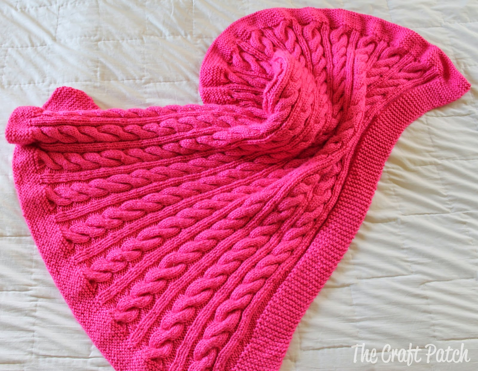 Knitting Pattern For Baby Blanket With Cable : The Craft Patch: Cable Knit Baby Blanket