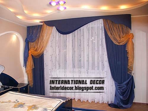 Blue Bedroom Curtains, Top Types Of Curtains 2014 For Window Coverings