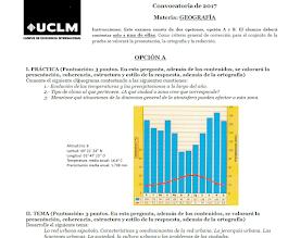 Examen Selectividad de Geografía (EvAU) 2017