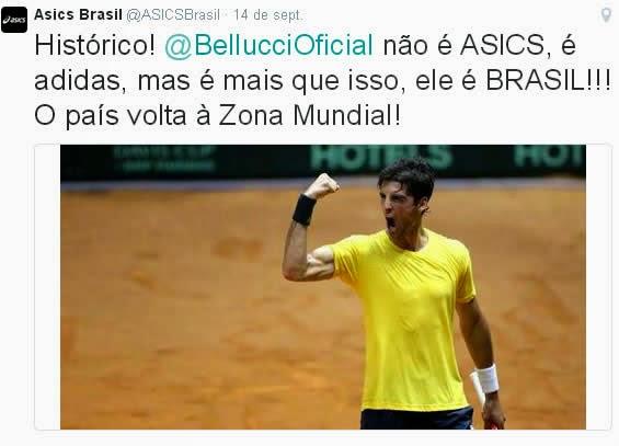 La extraña campaña de Asics Brasil en la Copa Davis