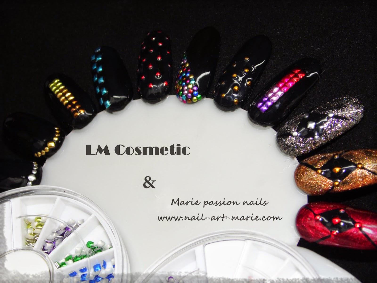 Nail Art studs métalliques Lm Cosmetic