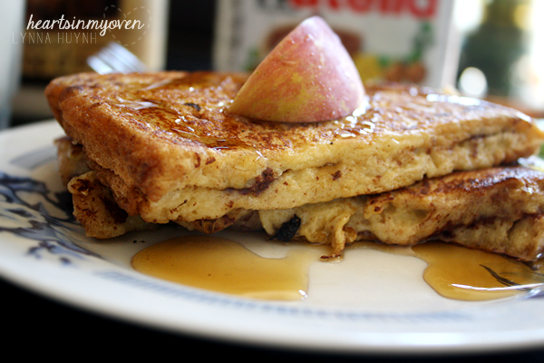 Hearts in My Oven: Nutella Stuffed French Toast