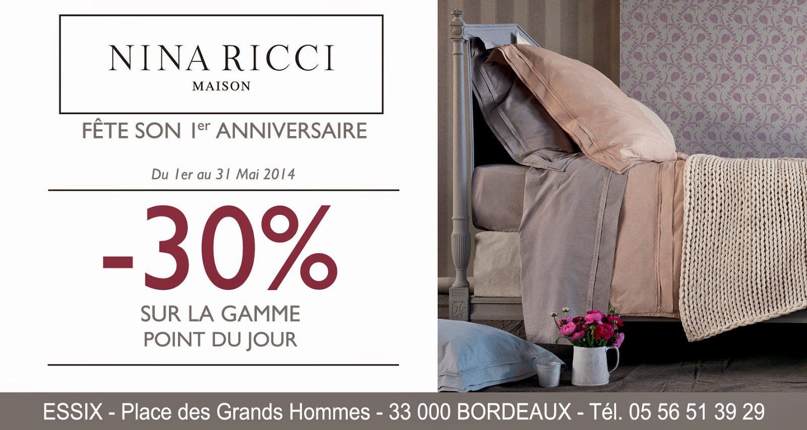 galerie des grands hommes le 1r anniversaire de nina ricci maison. Black Bedroom Furniture Sets. Home Design Ideas