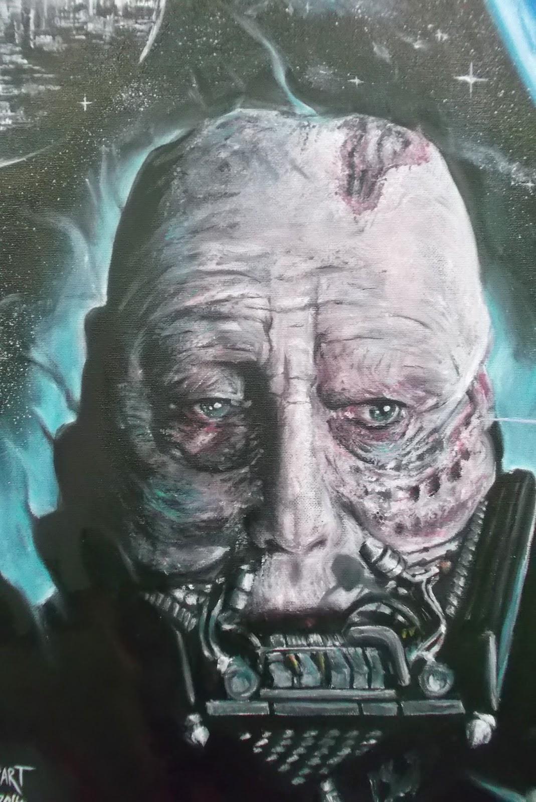 Darth Vader Oil Painting
