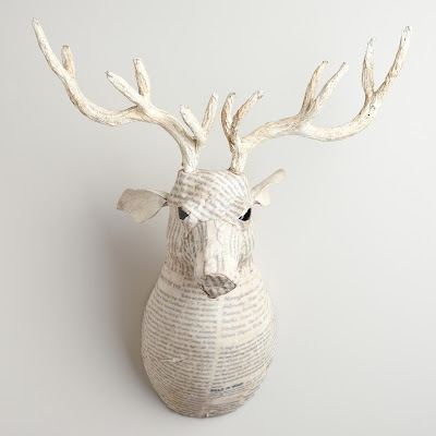 COST PLUS WHITE CANVAS REINDEER