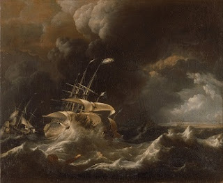 Ships, Are You On Board? - Ship in a Storm Painting