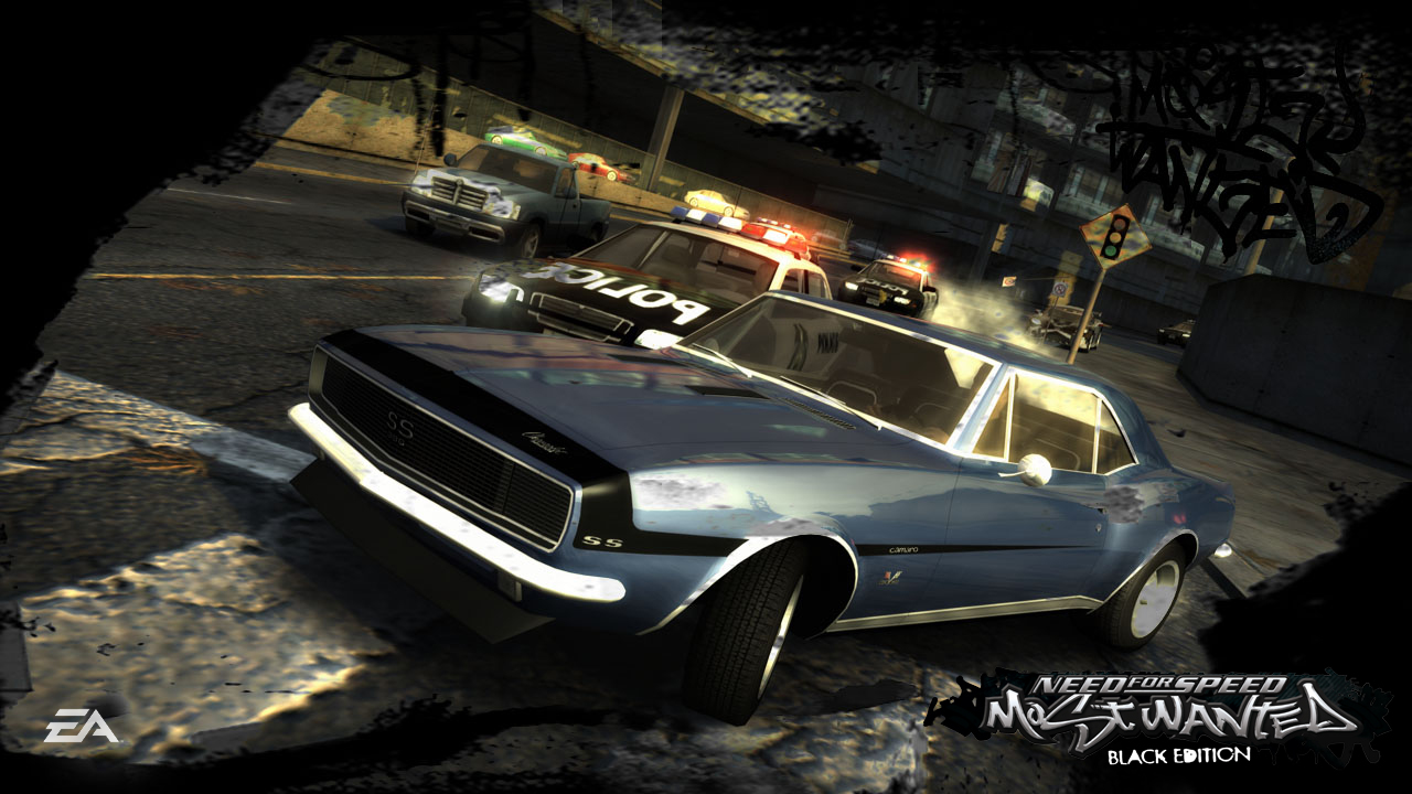 cartoon wallpaper: Need for speed most wanted black edition