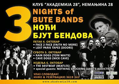 Festival tribute bendova u Akademiji 28
