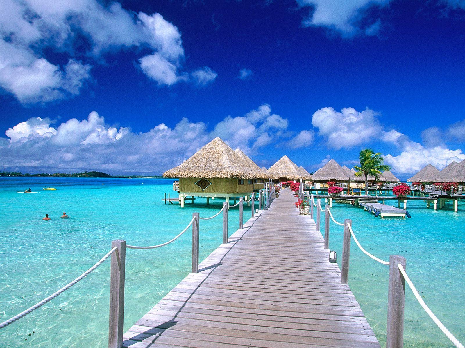 Bora Bora Beach Vacation Spot on Hibiscus Island Miami