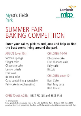 Baking competition details on Vassall View
