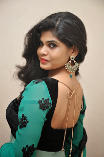 Actress Alekhya Latest Picture Gallery in Green Long Dress  003