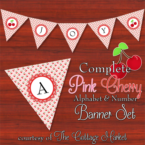 This free printable  alphabet banner is perfect for a fun pink party
