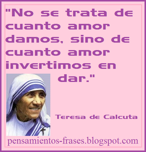 frases de Teresa de Calcuta