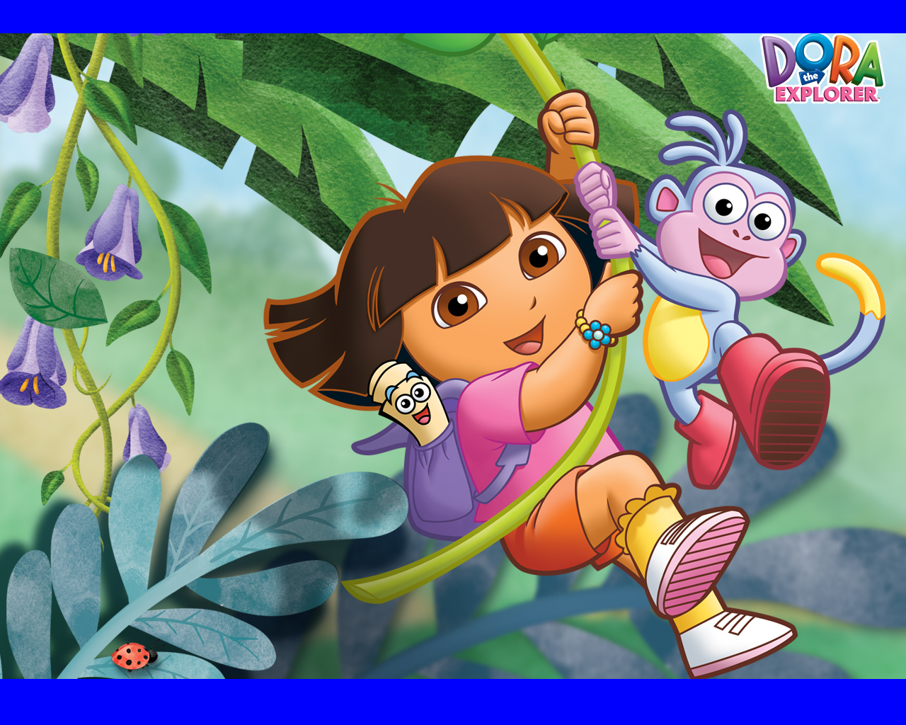 Gambar Mewarnai Dora Dan Boots Mewarnai Gambar