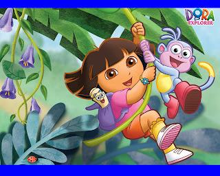 Wallpaper Gambar Mewarnai Dora Dan Boots
