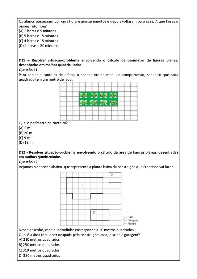 Preferência A VOZ DA EDUCAÇÃO: ATIVIDADES DE MATEMÁTICA COM DESCRITORES PARA  TL64