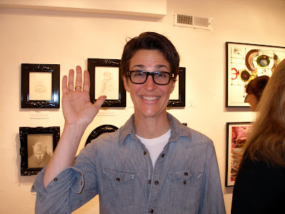 Rachel Maddow at Aqua Art Fair 2012