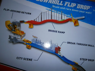 hot wheel wall track downhill flip drop expansion