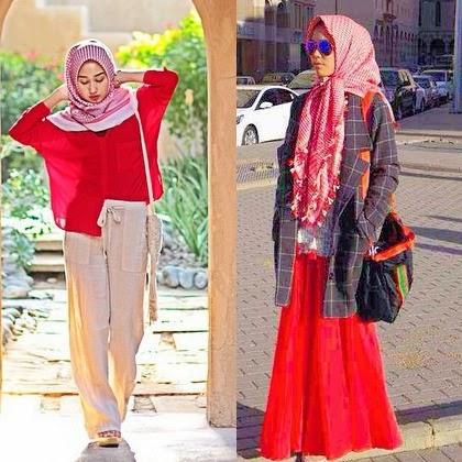 Mengenal Scarf Keffiyeh Dipakai Sebagai Item Fashion Hijab