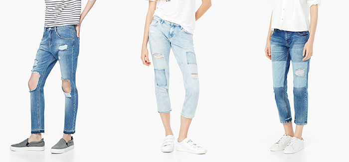jeans cropped mango