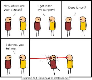 laser eye surgery joke