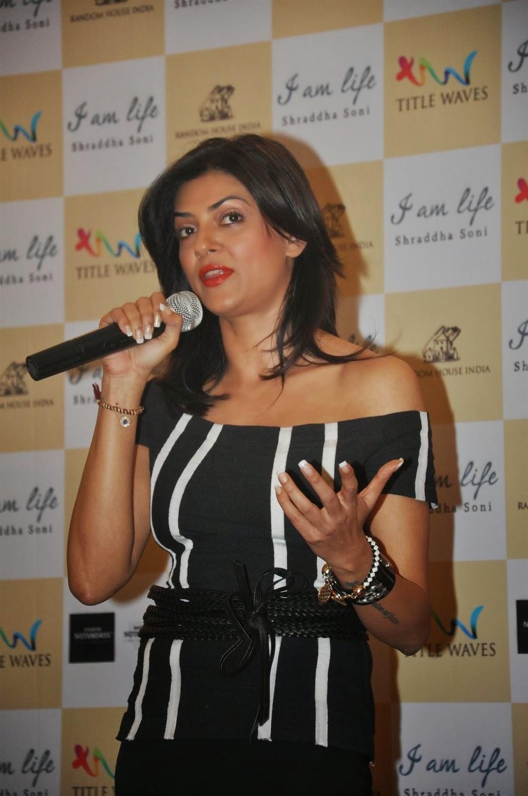 Actress Sushmita Sen launches Shraddha Soni's book 'I am Life'