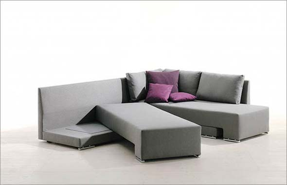 multifunctional modern sofabed a cool way to save space. Black Bedroom Furniture Sets. Home Design Ideas
