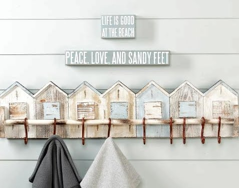beach house wall rack