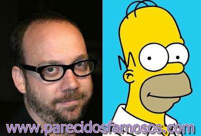Paul Giamatti y Homero Simpson