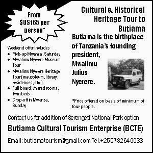 Special Weekend Offer to Butiama