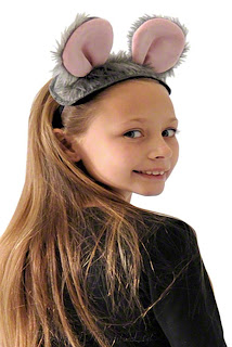 Mouse or Rat Ears and Tail Kids costume set from Theatrical Threads