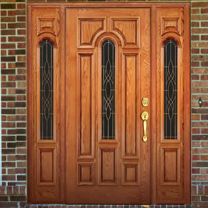 2 beautiful wood main door designs in india and nepal for Main door design images
